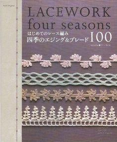 Seasonal borders and edgings, 25 for each season. #Japanese #crochet #book #Asahi