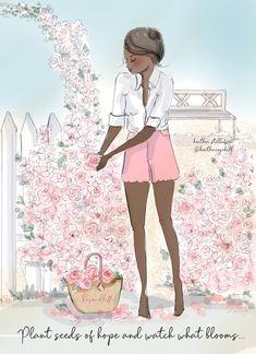 Pretty Woman, Girl Clipart, Sewing Art, Godly Woman, Cute Quotes, Summer Girls, Cute Designs, Fashion Art, Illustration Art