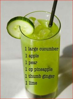 Guacamole Calories by Swapping Avocados With This Green Ingredient Eddie's Cucumber Juice Recipe. It's healthy, delicious and refreshing:)Eddie's Cucumber Juice Recipe. It's healthy, delicious and refreshing:) Healthy Juice Recipes, Juicer Recipes, Healthy Juices, Healthy Smoothies, Healthy Drinks, Detox Recipes, Healthy Detox, Easy Detox, Healthy Food