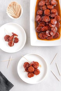 With just 3 ingredients, these Brown Sugar Glazed Kielbasa Bites will be your favorite appetizer. WARNING: They are addictive! Healthy Work Snacks, Dog Recipes, Healthy Crockpot Recipes, Clean Eating Snacks, Chicken Recipes, Cooking Recipes, Recipies, Sausage Recipes, Crockpot Meals