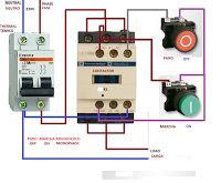 Esquemas eléctricos: arranque directo motor monofasico marcha paro