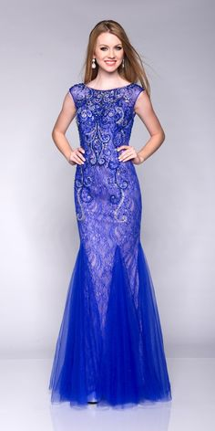 2016 Scoop Sleeveless Floor Length Crystals Tulle Ruched Lace Mermaid Blue Homecoming / Prom Dresses By EC 15168 Cheap Homecoming Dresses, Prom Dresses For Teens, Prom Dresses 2015, Unique Prom Dresses, Prom Dresses Online, Formal Dresses, Prom 2015, Mermaid Prom Dresses Lace, Lace Evening Dresses