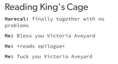Hit in da guts bruh Victoria Aveyard Books, Red Queen Victoria Aveyard, Book Memes, Book Quotes, Red Queen Book Series, King Cage, Inheritance Cycle, World On Fire, Book Fandoms