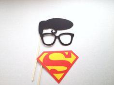 Superman et Clark Kent Photo Booth Props par CleverMarten sur Etsy, $7.00
