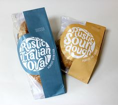 Artisan Bread Packaging by Beth Dowd, via Behance