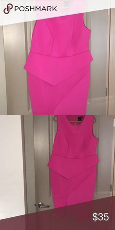 Pink scuba dress Dress is made out of scuba material. In excellent condition. Dresses