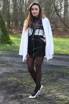 1b67253060a Winter Inspiration Leather skirt