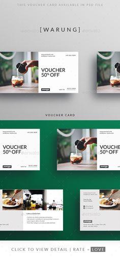 Restaurant Voucher  #restaurant #resto #simple • Available here → http://graphicriver.net/item/restaurant-voucher/15623289?ref=pxcr