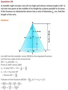 NCERT Solutions for Class 10 Maths Chapter 13 Surface Areas and Volumes-ex-13.4-q-5-1    #NCERTSolutions #CBSEClass10Maths  #NCERTClass10Maths #LearnCBSE #CBSE   #NCERTSolutionsClass10Maths
