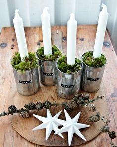 weihnachtsdeko-basteln-tischdeko-ideen-moderner-adventskranz-ideen1.jpg (600×753)