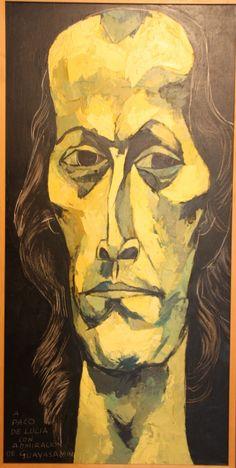 Paco de Lucia portrait by Guayasamin