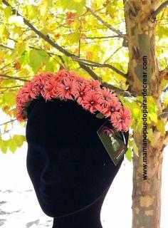 www.mamanopuedoparardecrear.com T. 628 532 319 Coronas y diademas de flores 2015 de Mama no puedo parar de crear. María José Montero Castillo. Alegra tu estilismo con una corona  o diadema de flores Mama no puedo parar de crear.