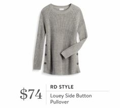 Stitch Fix October 2016 - RD Style, Louey Side Button Pullover, chunky warm sweater