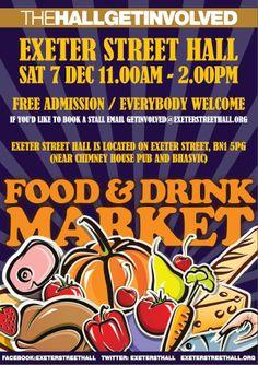 Community Food and Drink Market 24 Nov 2012 Kids Go Free, Brighton Uk, Free Entry, Posters, Drinks, Books, Community, Inspiration, Livros