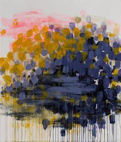 Caroline Wright   Blue Hole   acrylic on paper    55×65″   2009