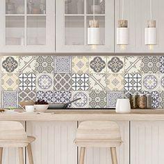 10 Pieces 20x20 cm PS00146 Adh/ésive d/écorative /à Carreaux pour Salle de Bains et Cuisine Stickers carrelage Stickers Design Made in Italy