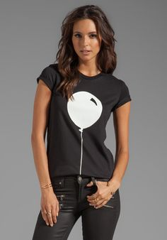 MARKUS LUPFER Rubber Graphic Balloon Tee in Black/White