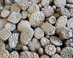 Handmade Clay stamps for pottery polymer PMC by chARiTyelise