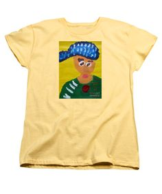 Patrick Francis Women's Banana Designer T-Shirt featuring the painting Portrait Of Camille Roulin 2015 - After Vincent Van Gogh by Patrick Francis