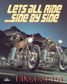 David Mann art, on Easy Rider Magazine Harley Davidson Images, Harley Davidson Wallpaper, Motorcycle Art, Bike Art, Motorcycle Posters, Chopper Motorcycle, Fire Truck Drawing, David Mann Art, Easy Rider