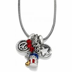Fireworks Long Charm Necklace available at #BrightonCollectibles