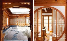 House full of happiness _ yongsik Mr. Sim's petition Sanbang cattle windows, remove those who can discuss the beauty of hanok her? Japanese Architecture, Sustainable Architecture, Interior Architecture, Asian Interior Design, Japanese Interior, Beautiful Home Gardens, Japanese House, Luxury Apartments, Traditional House