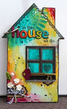 2013 CHA Release - Maya Road - Ronda Palazzari In the House Mini Album for houses AND books Mini Albums, Mini Scrapbook Albums, Wood Crafts, Paper Crafts, Collaborative Art, House Journal, Journal 3, Art Journal Inspiration, Mini Books
