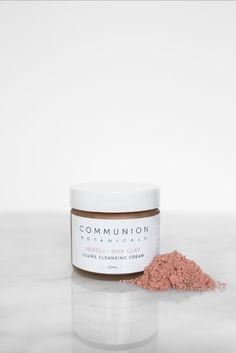 Communion Botanicals Illume Cleansing Cream Communion, Skincare, Place Card Holders, Clay, Pink, Clays, Rose, Skincare Routine, Skin Care