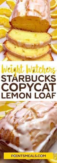 healthy recipes with lemon starbucks copycat lemon loaf Weight Watcher Desserts, Plats Weight Watchers, Weight Watchers Meals, Weight Watcher Breakfast, Cat Recipes, World Recipes, Cooking Recipes, Cooking Rice, Ww Desserts