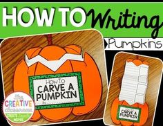 "Practice your ""how to"" writing with this fun writing and craft for ""How to carve a pumpkin."" Your students will love their published piece when they make the fun and creative pumpkin."