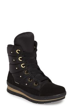 Free shipping and returns on JOG DOG Verbier Waterproof Boot (Women) at Nordstrom.com. A waterproof winter boot with athleisure-inspired style, this urbane look is as comfortably cozy as it is fashionable. A breathable Thinsulate lining with a temperature rating of -30 degrees F keeps toes toasty, while OrthoLite® cushioning and a grippy sole make for a smooth ride. Swarovksi crystals and gleaming hardware are glam finishing touches.