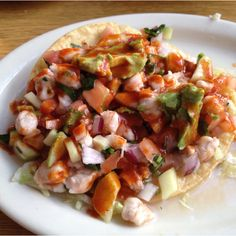 Shrimp Ceviche...Nothing like authentic Mexican food!!