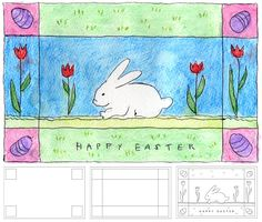 Art Projects for Kids: Homemade Watercolor Easter Card