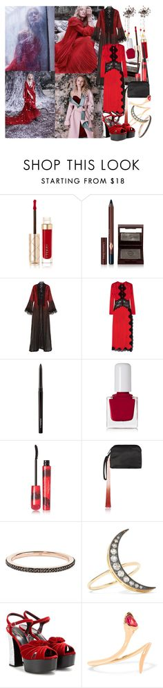 """""""My demons, though quiet, are never quite silenced"""" by brownish ❤ liked on Polyvore featuring By Terry, Charlotte Tilbury, Elie Saab, Alessandra Rich, MAC Cosmetics, tenoverten, Elizabeth Arden, The Row, Monica Vinader and Andrea Fohrman"""