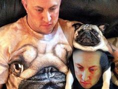The Strangest Picture You'll See All Day #pug #funny
