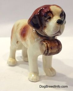 Saint Bernard Dog Vintage Porcelain
