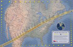 2024 Eclipse, Total Eclipse, Solar Eclipse Map, Great North, The Weather Channel, Our Solar System, Best Cities, Astronomy, Paths