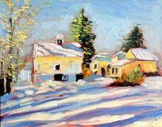 """winter landscape"" - Original Fine Art for Sale - © Kristen Dukat"