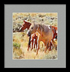 Horse Framed Print featuring the painting Late Afternoon In The Sage by Michele Ross