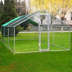Idealchoiceproduct 20x10ft Large Metal Chicken Coop Wakl-...