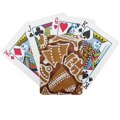 Christmas Cookies Poker Cards