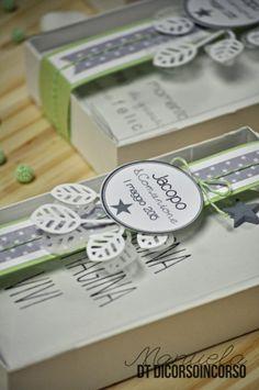E per la Comunione di Jacopo…verde bianco e grigio Wedding Thanks, Communion, Paper, Hobby, Confirmation, Craft Ideas, Silhouette, Green, Ink