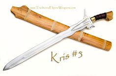 Kris Sword #5 – Our latest edition to the Moro Kris family of blades from the Southern Philippines, Kris #5, is distinctly traditional. Every effort has been made to have each detail represented with authenticity in the fashion of the Moro tribesmen of Sulu & Mindanao.