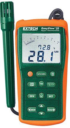 Máy đo độ ẩm EA20 là một Hygro-Nhiệt kế đo Độ ẩm, nhiệt độ, điểm sương, và hiển thị bất kỳ hai tham số (Nhiệt độ và độ ẩm hoặc điểm sương) cùng một lúc
