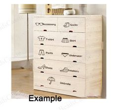 2017 Hot dressing classification personalized furnishings drawer wardrobe wall stickers DIY logo affixed stickers are Jiezhuang Wardrobe Wall, Cartoon Wall, Mural Wall Art, Wall Stickers Home Decor, Baby Boy Rooms, Girl Room, Kids Bedroom, Room Decor, Inspiration