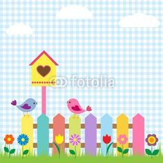 wallprints.be nl wallprint 40975539 Birds_and_birdhouse