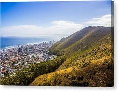 City Meets Sea - Canvas Print Canvas Prints, Earth, Sea, Mountains, City, Water, Artwork, Travel, Gripe Water
