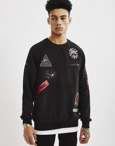Eleven Paris Space Patch Sweatshirt Black | Shop men's clothing at The Idle Man Eleven Paris, Space Patch, Parisian, Patches, Man Shop, Mens Fashion, Instagram, Men's Clothing, Sweatshirts