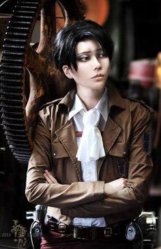 Levi cosplay my my my! my heaaaaaaaaaart! *.*