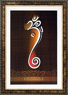 Avercart Lord Ganesha / Shree Ganesh / Shri Ganpati Poste… Ganesha Painting, Ganesha Art, Lord Ganesha, Ganesh Images, Lord Krishna Images, Art Sketches, Art Drawings, Best Photo Frames, Rajasthani Art